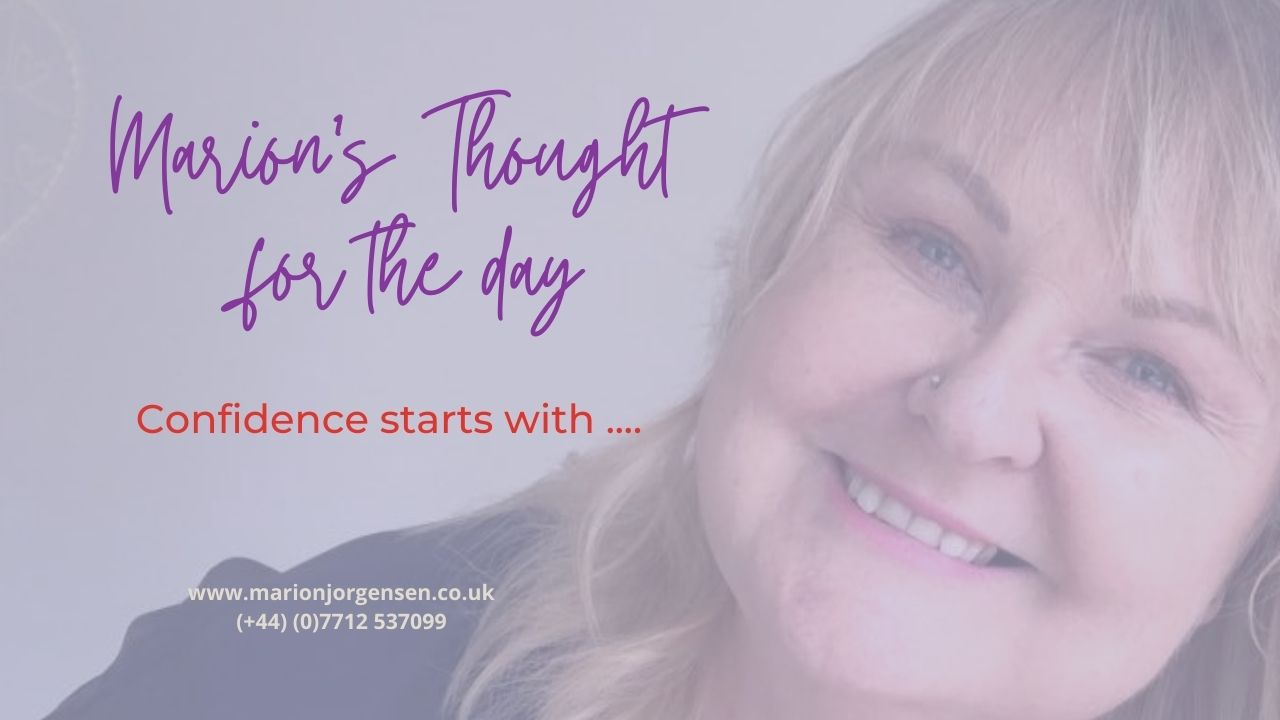 Read more about the article Thought for the Day – Confidence start with …