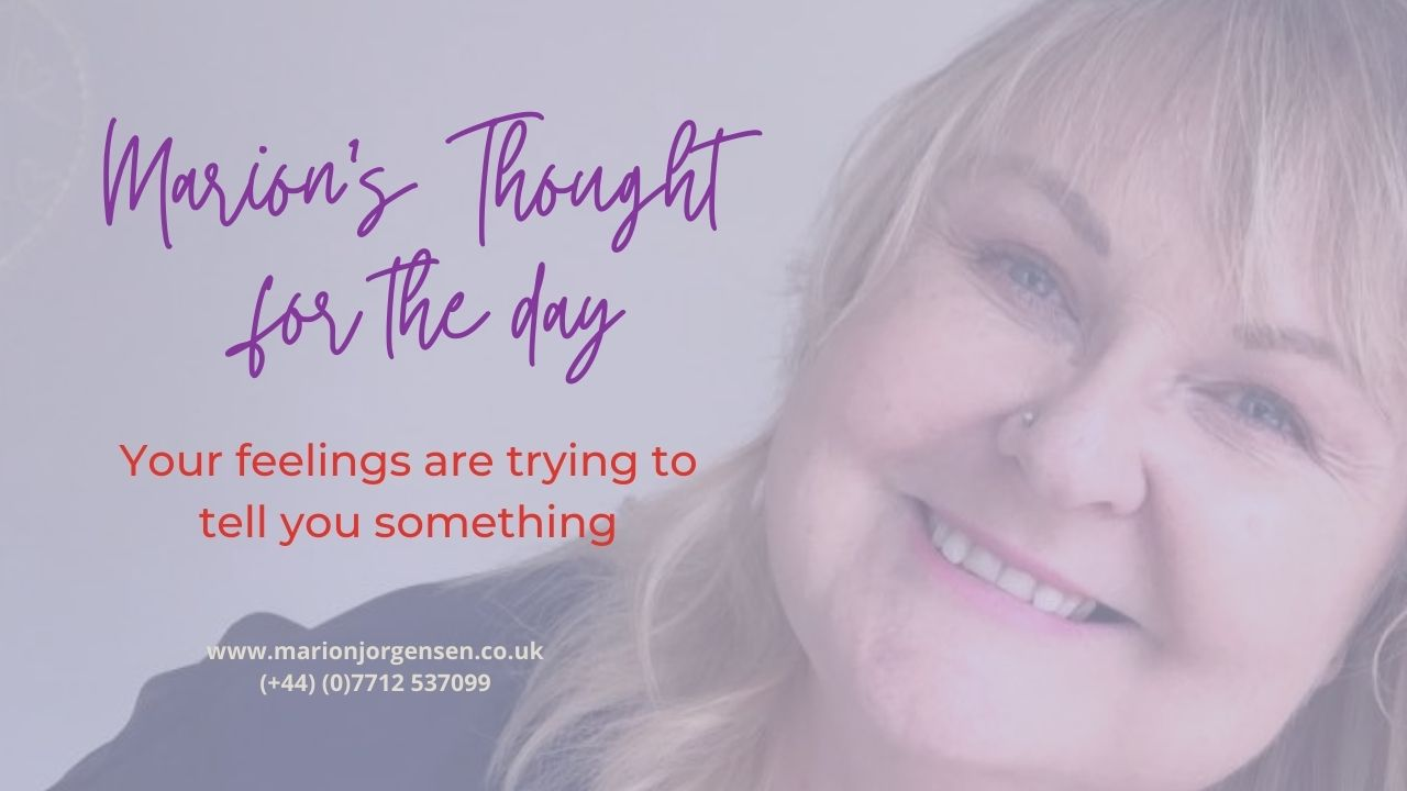 Read more about the article Thought for the Day -Your feelings are telling you something